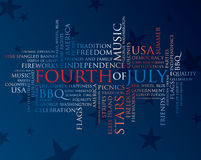 Fourth of july words Stock Photos