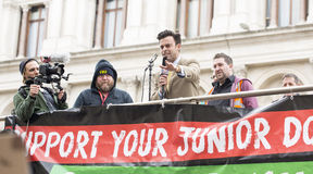 The Fourth Junior Doctors' Strike. Royalty Free Stock Photography