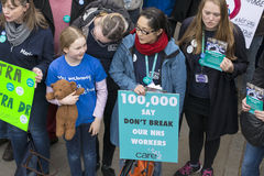 The Fourth Junior Doctors' Strike. Stock Image
