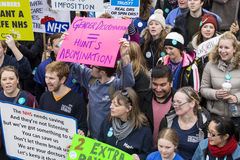 The Fourth Junior Doctors' Strike. Royalty Free Stock Images