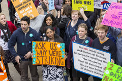 The Fourth Junior Doctors' Strike. Royalty Free Stock Image