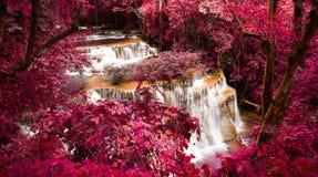 The fourth level of Huai Mae Kamin Waterfall Stock Photography