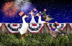 Fourth Lipiec kaczki przyjęcie ilustracja wektor