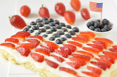 Free Fourth Of July Cake Royalty Free Stock Photography - 30756907