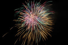 Free Fourth Of July Fireworks At Night. Stock Photography - 56382182