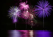 Free Fourth Of July Fireworks Over Lake Stock Photos - 9532323