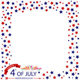 Fourth Of July, Stars Frame Design Of USA Independence Day Vector Royalty Free Stock Photos