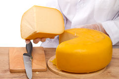 Fourth part of the cheese head Stock Image