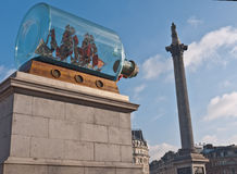The Fourth Plinth Trafalgar Square Stock Image