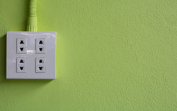 Fourth power The green background Royalty Free Stock Photography
