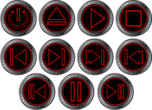 Fourth set buttons for web player Royalty Free Stock Photo