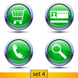 Fourth set of four realistic icons Stock Image