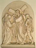 Fourth station of the cross stock image