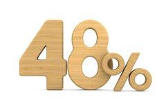 Fourty eight percent on white background. Isolated 3D illustrati. On royalty free illustration