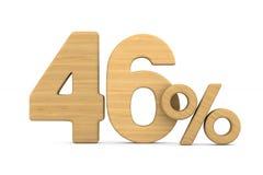 Fourty six percent on white background. Isolated 3D illustration.  stock illustration