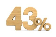 Fourty three percent on white background. Isolated 3D illustrati. On royalty free illustration