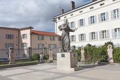 Fourvière Basilica esplanade, statue of Pope John Paul II, Lyon Royalty Free Stock Image