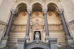 Fourviere大教堂,利昂,法国 免版税图库摄影