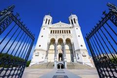Fourviere大教堂在利昂 库存照片