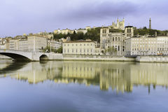 Fourviere Basilica on the hill, Lyon, France Royalty Free Stock Image