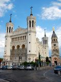 The Fourviere Basilica in Lyon, France Stock Images