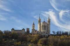 The fourviere basilica at Lyon, France Royalty Free Stock Photo