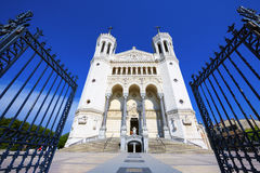 Fourviere basilica in Lyon Stock Photos