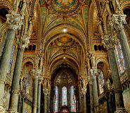 Fourviere Basilica Nave - Stock Photo