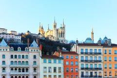 Fourviere de Notre Dame de la catedral, Lyon, Francia Fotos de archivo libres de regalías