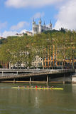 Fourviere e rowers Foto de Stock Royalty Free