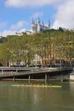 Fourviere et rowers Photo libre de droits
