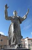 Fourvière Basilica esplanade, statue of Pope John Paul II, Lyon Royalty Free Stock Photography