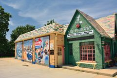 The Fourway diner in Cuba. Cuba, Missouri, USA - July 18, 2017 : The Fourway diner in Cuba, located on historic Route 66 Royalty Free Stock Photos