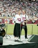 10.000 fous exécutent au Sun Devil Stadium 1997 Photos libres de droits