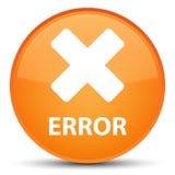 Fout (annuleer pictogram) speciale oranje ronde knoop Royalty-vrije Stock Afbeeldingen