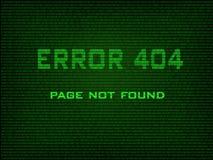Fout 404 gevonden niet pagina Royalty-vrije Stock Afbeelding