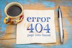 Fout 404 - gevonden niet pagina Royalty-vrije Stock Foto