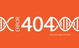 Fout 404 Gevonden niet pagina Abstracte achtergrond met onderbreking connec Vector Illustratie