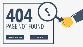 404 fout Gevonden niet pagina UI UX-malplaatje voor website Vector illustratie stock illustratie
