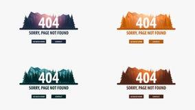 404 fout Gevonden niet pagina UI UX-malplaatje voor website Vector illustratie vector illustratie