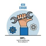 Fout 404 infographic vectorillustratie stock illustratie