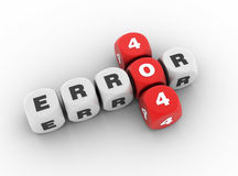 Fout 404 Kruiswoordraadsel vector illustratie