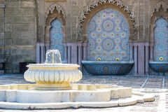 Foutain. Small fountain in the palace yard Royalty Free Stock Image