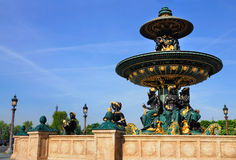 Foutain su Place de la Concorde, Parigi, Francia Fotografie Stock