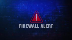 Foutenmelding die van de firewall de Waakzame Waarschuwing op het Scherm knipperen stock illustratie