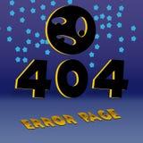 404 foutenpagina Royalty-vrije Stock Afbeelding
