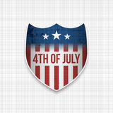 Fouth of July realistic vector Banner Royalty Free Stock Photography