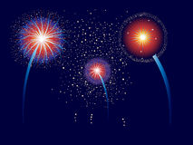 Fouth Of July Fireworks Royalty Free Stock Images