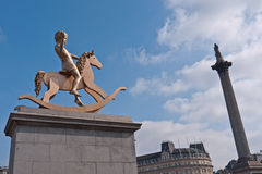 Fouth Plinth Trafalgar Square Stock Photos