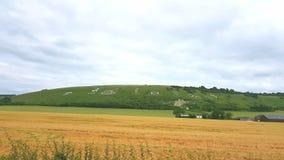 Fovant-Ausweise, Dorf von Fovant Salisbury Großbritannien Stockbild